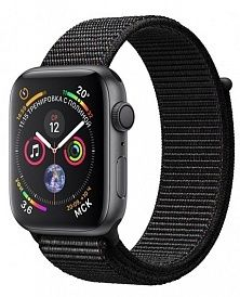 Apple Watch Series 4 44mm Aluminum Case with Sport Loop (Space Gray/Black)