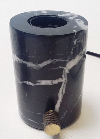 Светильник настольный  Sia LORD/BLACK MARBLE TABLE LAMP 816018, L.8 x W.8 x H.11.5 cm