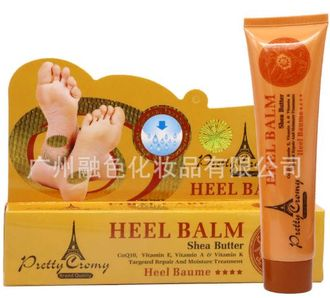 Крем для ног «анти-трещины» с маслом ши и витаминами Pretty Cromy Heel Balm Shea Butter CoQ10, Vitamin E, Vitamin A & Vitamin K Targeted Repair And Moisture Treatment