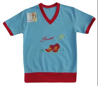Футболка для мальчика (Артикул 2148-342) цвет голубой