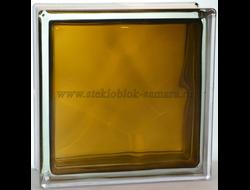 Стеклоблок Vitrablok окрашенный внутри волна бронзовый