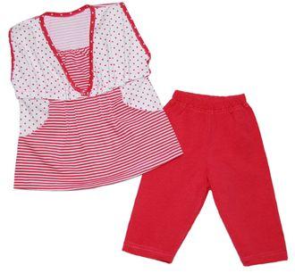 Комплект для девочки (Артикул 2123-453) цвет малиновый