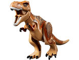 Dinosaur, Tyrannosaurus rex with Dark Orange Back and Dark Brown Markings, Medium Nougat (TRex04)