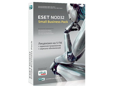 ESET NOD32 Small Business Pack newsale for 5 user NOD32-SBP-NS(CARD)-1-5
