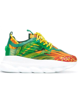 VERSACE CHAIN REACTION GREEN YELLOW RED ЖЕНСКИЕ