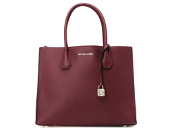 Сумка MICHAEL KORS Mercer Large Tote (Бордовая)