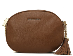 Клатч Michael Kors Ginny Medium Leather Crossbody (Коричневый)