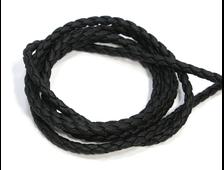 Шнурок для кулона плетеный из экокожи, черный, толщина 3 мм, длина 85 см (1 шт.) №20962