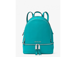 Рюкзак Michael Kors Rhea medium leather backpack turquoise
