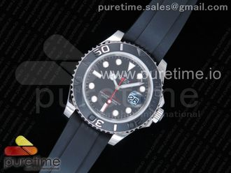 Yacht-Master 116655 ARF SS Custom Made Black Ceramic Bezel