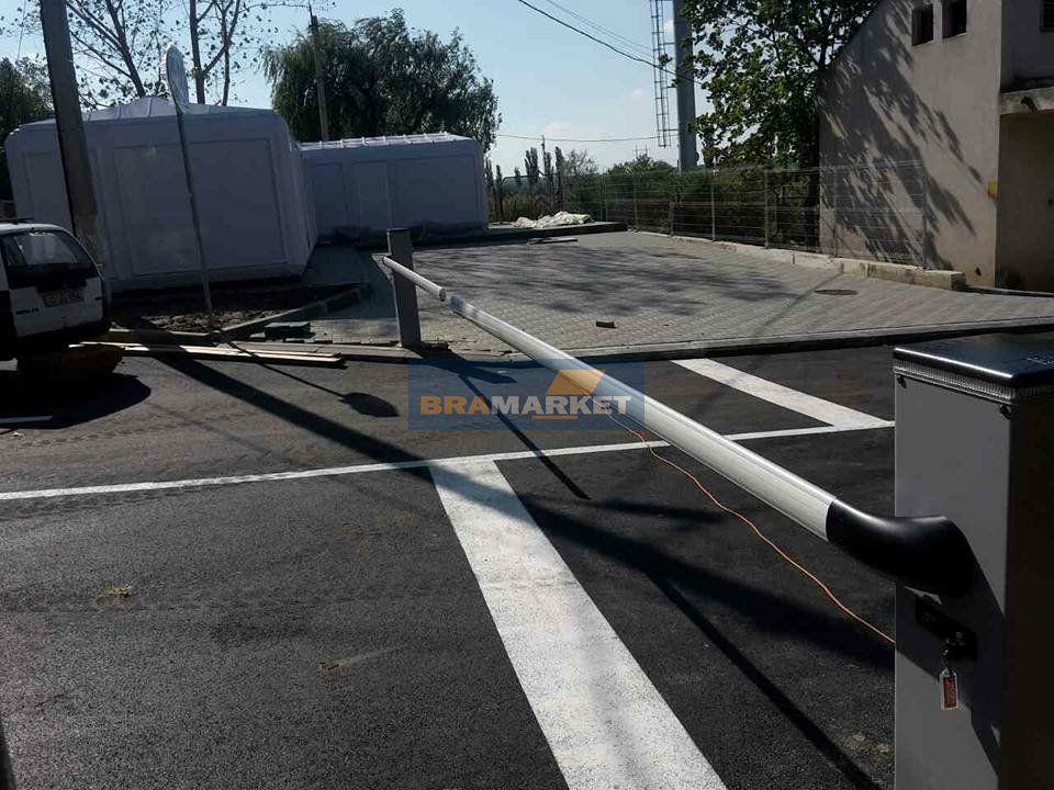 установка пропускного оборудования для парковки - шлагбаум для въезда