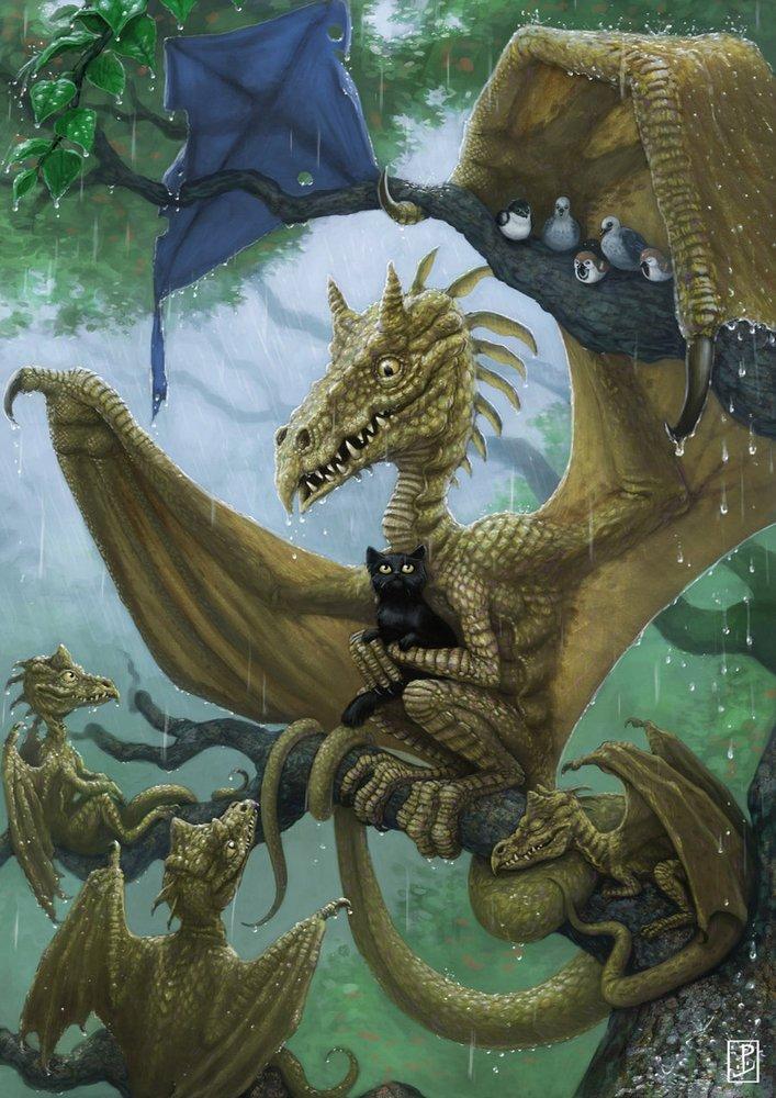 Картинки про драконов прикольных, концерте