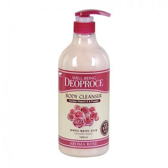 Гель для душа Роза WELL-BEING DEOPROCE AROMA BODY CLEANSER 1000ml