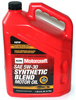 FORD MOTORCRAFT SAE 5W-30 Synthetic Blend (4,73_литра/OEM:XO-5W30-5QSP)