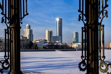 Jekaterinburg: Winter in Russland