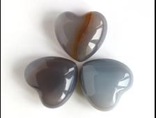 Сердце Агат серый мал. /в ассортименте (25*25*11 мм, 9 г) №1817