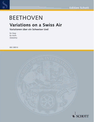Beethoven. Variations on a Swiss Air: for harp