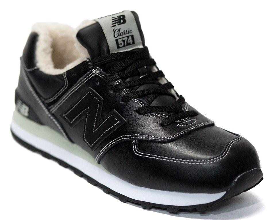 6990454b Купить Зимние кроссовки New Balance мужские кожаные на меху арт. w37