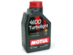 Масло MOTUL 4100 Turbolight 10/40 моторное п/с 1л, кат.№ 83089