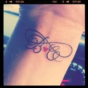 Kids initials tattoo  Tattoo me  Pinterest  Best Kids