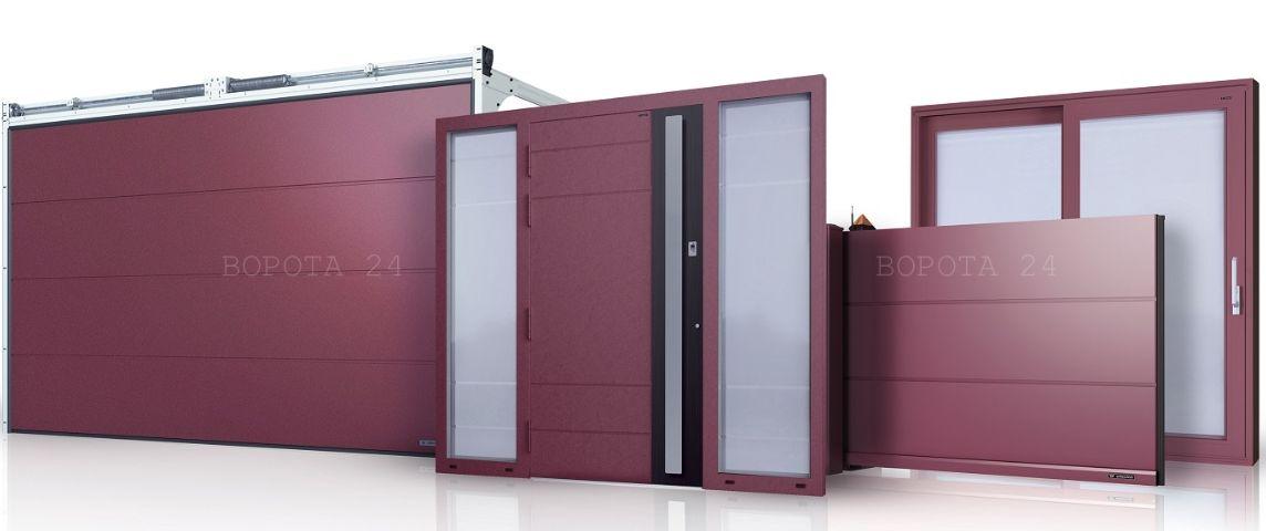 двери наружные - уличные раздвижные ворота - роллетные секционные в гараж