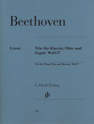 Beethoven Flute Trio G major WoO 37 for Piano, Flute and Bassoon