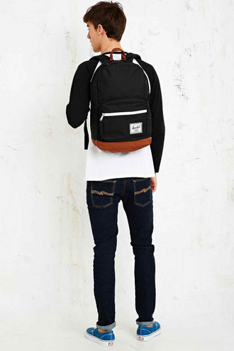 Рюкзак Herschel Pop Quiz Black/Tan Synthetic Leather