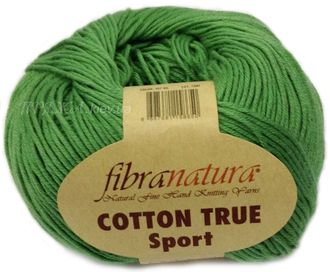 Пряжа Fibranatura Cotton True Sport 107-06 зеленый
