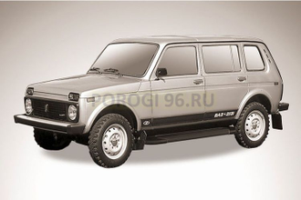Пороги на Lada NIva 4x4 5d Optima Black