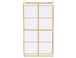 Glass for Window 1 x 4 x 6 with Gold Lattice over Frosted White Background Pattern, Trans-Clear (57895pb041 / 6202504 / 6257539)
