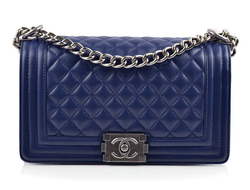 Сумка Chanel Boy Quilted Lambskin Flap Bag Blue