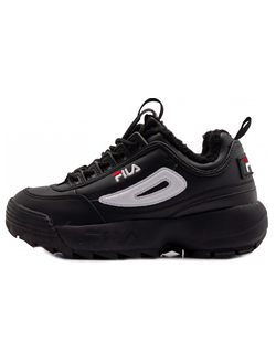 КРОССОВКИ FILA DISRUPTOR ALL BLACK С МЕХОМ