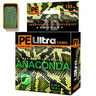 Плетёный шнур PE Ultra ANACONDA CAMO Jungle 0,18 мм 135 м