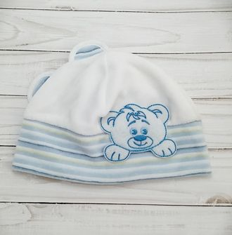 Шапка для мальчика (Артикул 521) цвет голубой