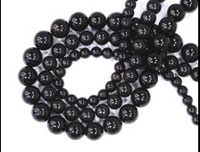 "Бусина Турмалин черный ""шерл"", шар 10 мм (1 шт) №14825"