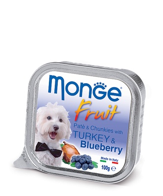 Monge Монж Dog Fruit Индейка с Черникой для собак консерва 100г