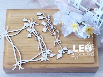 LM-NB05 - Рамочка с колокольчиками и цветок