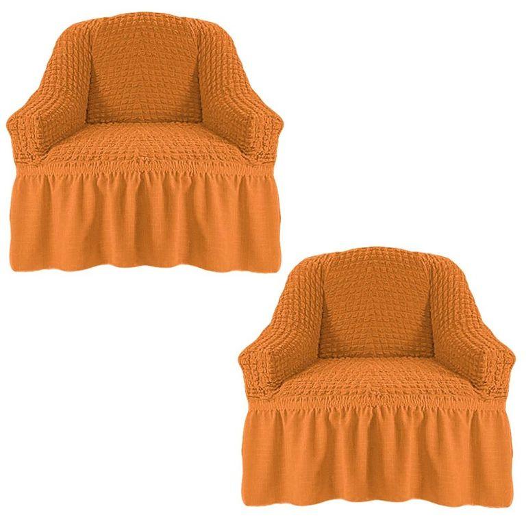 Чехлы на 2 кресла, Рыжий 208