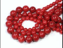 Бусина Коралл красный, шар 4 мм (1 шт) №20320