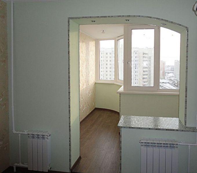 Фото как сделать проем на балкон башмак