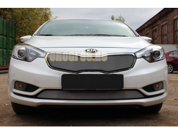 Защита радиатора KIA Cerato 2013-2016 chrome низ