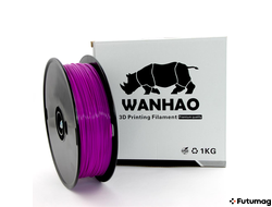 PLA пластик Wanhao, 1.75 мм, translucent purple, 1 кг