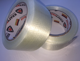 Adhesive tape reinforced with fibreglass