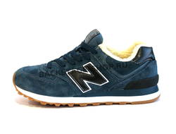 Кроссовки New Balance 574 Blue\Black с мехом