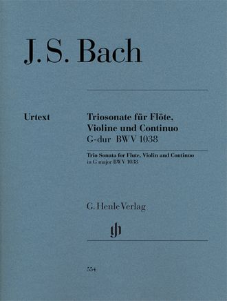 J.S. Bach Trio Sonata G major BWV 1038 for Flute, Violin and Continuo