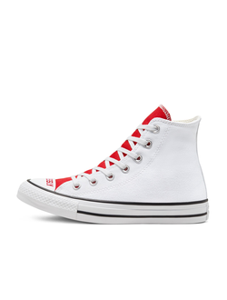 Кеды Converse All Star Love red and white высокие