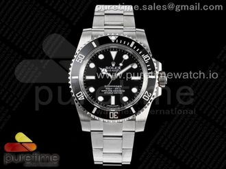 Submariner 114060 No Date Black Ceramic 904L Steel ARF