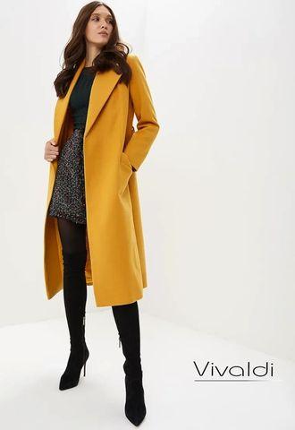 506ed27f0df Желтое пальто халат Vivaldi купить в Москве