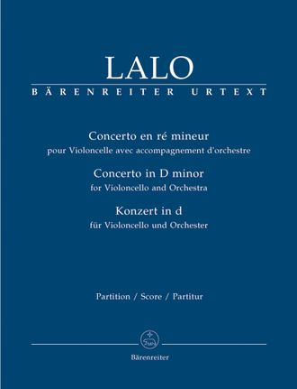 Lalo, Concerto for Violoncello and Orchestra D minor Score, Urtext edition