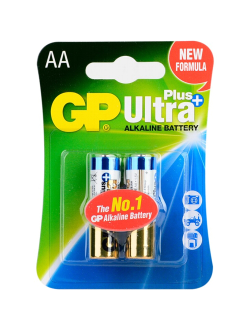 Батарейка AA щелочная GP Ultra Plus Alkaline LR6 в блистере 2шт